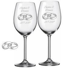 2 Leonardo Weingläser mit Gravur Ringe Name Datum graviert Hochzeit Weinglas