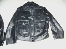 WOMENS LEATHER POLICE MOTORCYCLE JACKET SIZE 10 MILWAUKEE WI USA DEAN'S CREW