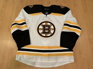 Boston Bruins Away MiC Adidas Jersey - Game Issued Size 56 - Blank