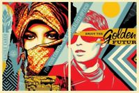 Shepard Fairey Obey GOLDEN FUTURE Set Signed Numbered Screen Prints