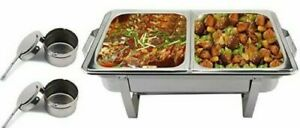 8.5L Double Compartment Chafing/Buffet/Party Dishes or Food Warmer