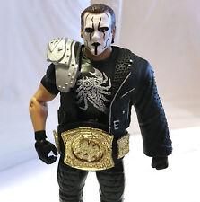 STING w/CHAMPIONSHIP BELT • C9 • CROW ATTIRE • WWE WWF ELITE CUSTOM LEGEND