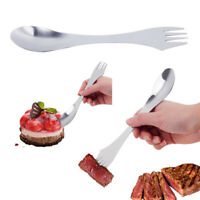 3 in 1 Stainless Steel Spork Spoon Fork Cutlery Utensil Combo Outdoor Picnic Use