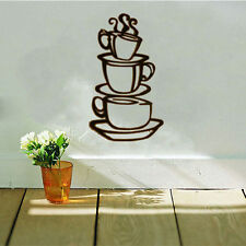 DIY Removable Coffee Cup Decals Vinyl Wall Sticker Home Kitchen House Room Decor