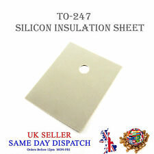 Hoja de aislamiento de transistores Silicona alfombrilla de calor de aislante TO-247 20x25mm