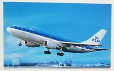 KLM Royal Dutch Airlines Airbus A310 Postcard (Airline Issue)