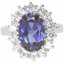 Cocktail Simulated Sapphire Fine Rings
