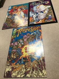 TRENCHER #1-#3 SET (NM-) IMAGE COMICS, KEITH GIFFEN
