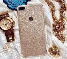 Apple iPhone 8 Plus Fashion Anti-Scratch Matte Glitter Decal - Gold