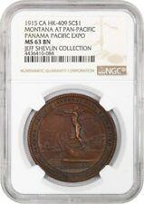 1915 Pan-Pac Expo, Montana, Bronze SC$1 NGC MS63 BN ((HK-409))