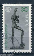 ALLEMAGNE FEDERALE 1974, timbre 653, EUROPA, SCULPTURES LEHMBRUCK, oblitéré