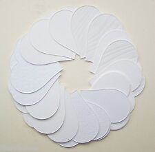 40 Asst White Textured Heart Shaped Card Cut -Outs For Crafts 70mm x 62mm NEW