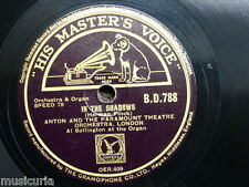 78rpm ANTON & PARAMOUNT THEATRE ORCH in the shadows / valse septembre BOLLINGTON