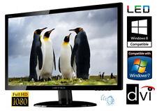 """22"""" TFT LED Monitor Hanns-G VGA DVI 5ms 16:9 40Mio:1 HE225DPB Lautsprecher LED"""