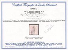 1858 Antichi Stati Napoli ½ grana n. 1e Usato Certific.