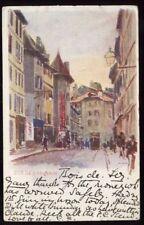 Switzerland artist signed Rue de Cornavin u/b PPC 1904
