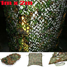 "1mx2m 39x78"" Woodland Camouflage Camo Net Cover Hunting Shooting Camping Army US"