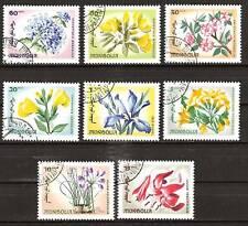 MONGOLIA  # 422-9 Used FLOWERS PLANTS FLORA LILIES
