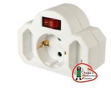 3 Stück  Stecker Steckdose 3 Adapter= 1x Schuko 2x Euro mit Schalter TÜV geprüft