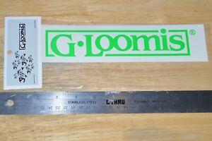 "g loomis fishing rods boat truck window sticker neon green approx 8"" x 2"" NEW"
