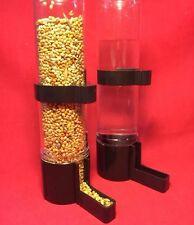 Alimentador del Pájaro x 2 bebedor de agua semilla Clipper fuente Periquito Canario Finch negro LG