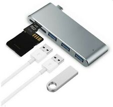 USB-C Hub,5-in-1 with 3 USB 3.0 Ports & SD Card Reader for MacBook Pro/Air,Phone