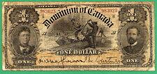 "1898 ""B"" SERIES - DOLLAR BILL DOMINION of CANADA ONE DOLLARS NOTE"