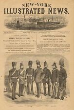Canadian Volunteers Of Montreal, Military, Uniforms, w/text, 1860 Antique Print
