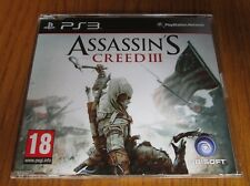 Assassins Creed III/3 Promo-PS3 ~ NUEVO (COMPLETO juego promocional) Playstation 3