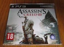 Assassins Creed III/3 Promo-PS3 ~ NUEVO (COMPLETO juego promocional) PlayStation 3