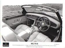 MG RV8 Interior& dashboard Original 1992 black & white Press Photograph No. 255