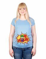 Maternity S-XXL Joker Comic Print Baby Shower Gift Funny Cotton Top T-Shirt