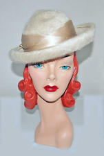 Ladies Hat LORD & TAYLOR Fifth Ave Derby silk satin ribbon vintage