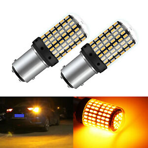 2x 1156 1157 BAY15D LED Bulb Canbus Error Free Turn Signal Lights 3014 144 SMD