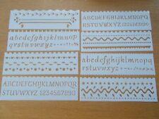 Plastic letters  Layering Stencils Painting Scrap Writing Cards (8pcs/set) DIY