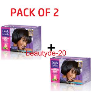2 X DARK AND LOVELY NO-LYE HAIR RELAXER KIT REGULAR TWIN PACK-FREE UK POST!!!