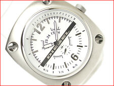 DIESEL MEN'S SECOND DIAL WHITE FACE AND WHITE BAND WATCH DZ1229