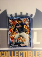 2019 Bowman Holiday Bryse Wilson Blue 130/150 Rookie Card Braves