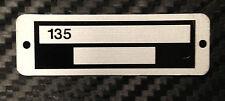 Massey Ferguson Tractor 135 Serial Number Plate *