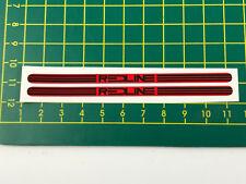 old school bmx decals stickers redline FLIGHT crank black on red