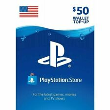 Sony US Playstation Network Playstation Store PSN USD 50 Dollar Code PS4 PS3
