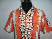 vintage Identic Hawaii hemd shirt 90s surfer Freizeithemd surf orange L