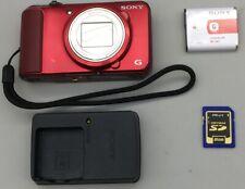 Sony cybershot DSC-H90 Camera, 16.1 Megapixel red fast ship E09