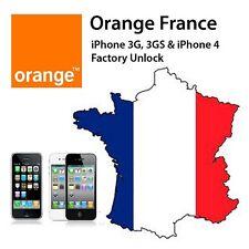 Orange Francia Iphone Factory Unlock Service 3G/3GS/4/4S/5/5C/5S/6/6+ CLEAN IMEI