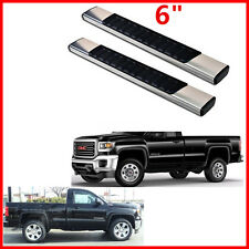 "For 99-16 Silverado Sierra Regular Cab 6""  Aluminum Nerf Bars Running Board"