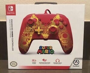 Nintendo Switch Controller PowerA Enhanced WIRED Super Mario NEW (not Pokémon)