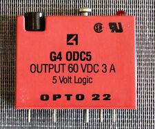 OPTO 22 G4 ODC5 60VDC 3A 5 VOLT LOGIC DIGITAL OUTPUT I/O MODULE