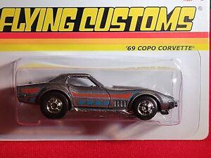 Hot Wheels ~ '69 COPO Corvette ~ 2013 Flying Customs Series, Mtflk Grey