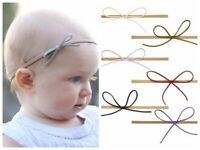 Nylon Slim Felt Bow Newborn Baby Girl Toddler Kid Stretch Headband Hairband
