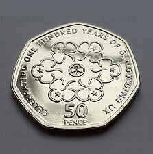 2010  BU Fifty Pence coin 100th Anniversary Of The Girl Guides  50p coin hunt